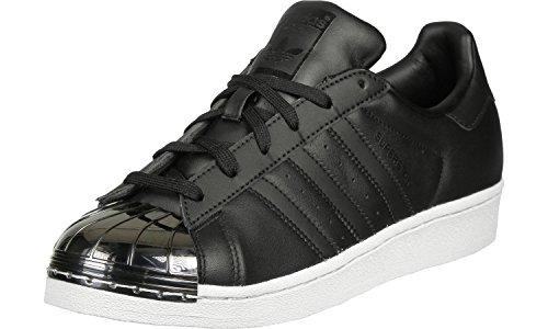 adidas Damen Superstar Metal Toe Sneaker, Schwarz (Cblack/Cblack/Ftwwht), 38 2/3 EU