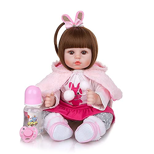 Boneca Bebe Reborn Inteira de Silicone Real Pode Tomar Banho Chupeta magnética