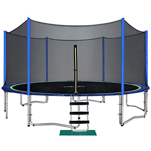 Zupapa 10 FT Trampoline for Kids with Safety Enclosure Net...