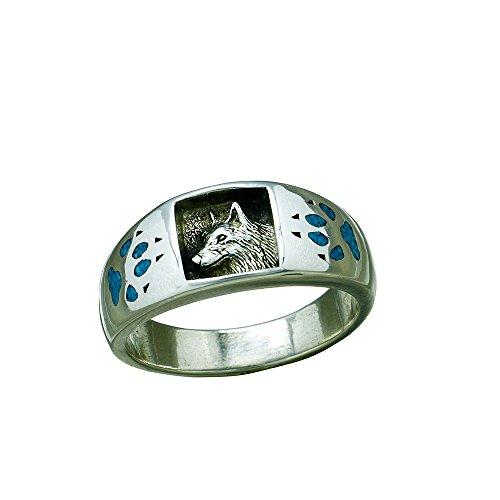 SF Indianerschmuck Wolfsring Navajo Style Westernschmuck Wolf Indianerring Ring (63 (20.1))