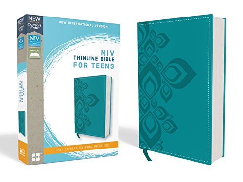 NIV, Thinline Bible for Teens, Leathersoft, Blue, Red Letter Edition, Comfort Print