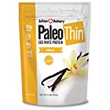 Julian Bakery Paleo Thin Protein Powder | Vanilla | Egg White | 21g Protein | 3 Net Carbs | Soy-Free | 1.92 LBS | 30 Servings