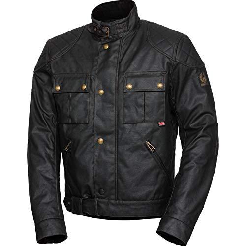Belstaff Motorradjacke mit Protektoren Motorrad Jacke Brooklands 2.0 Textiljacke schwarz L, Herren, Chopper/Cruiser, Ganzjährig, Baumwolle