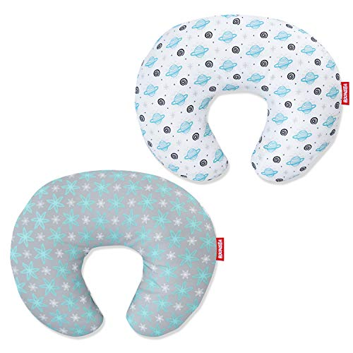 Nursing Pillow Cover 2 Pack for Baby Girls Boys, Soft and Comfortable Breastfeeding Pillow Slipcover,Snug Fits Boppy Nursing Pillows for Breastfeeding