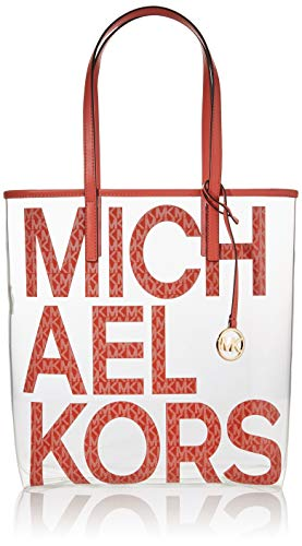 MICHAEL Michael Kors The Michael Bag Large North/South Tote Pink Grapefruit Multi One Size