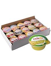 Indalitos - Tomate Natural con Aceite de Oliva Virgen Extra y Ajo - Bandeja 18 Monodosis 25 g