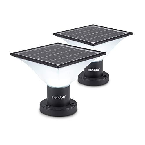 Hardoll Solar Lights for Outdoor Home Garden 20 LED Waterproof Pillar Wall Gate Pillar Lamp(Multi...