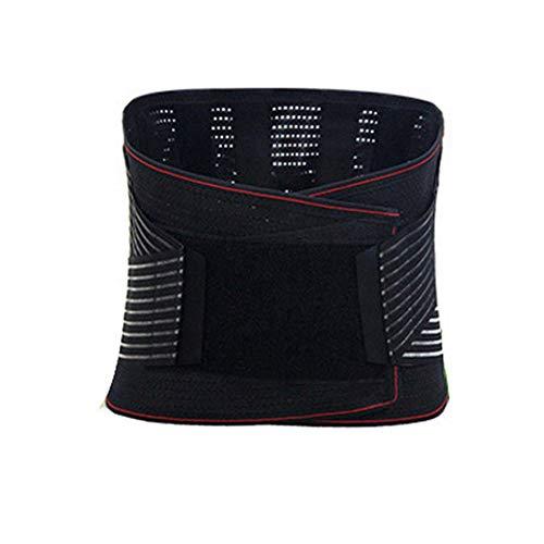 Lendegordel Lower Back Brace for Verlichting Van Pijn en Injury Prevention Dual Verstelbare Bandjes en Ademend Mesh Panels (Color : A, Size : L)