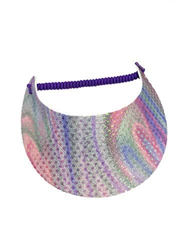 Pickleball - Fashion Fabric Foam Sun Visor for Women - The Sporty Look - Adjustable to Any Size Head - No Pressure & No Headache! - Splash Glitz