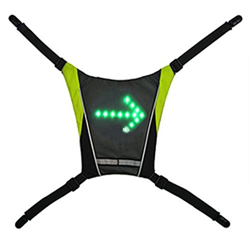 Bikcy - Giacca lampeggiante, per bicicletta e mountain bike, segnaletica per bicicletta e mountain bike, in regalo: telecomando senza fili con batterie