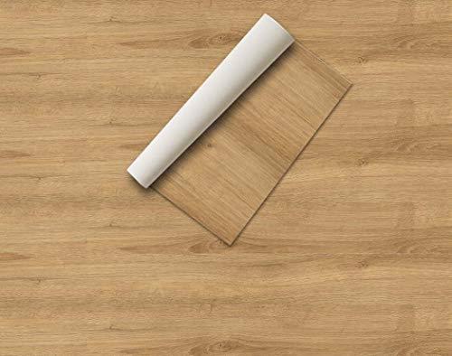 Lámina adhesiva Madera y piedras , vinilos para muebles , lámina decorativa, aspecto real, lámina para muebles, vinilo decorativo (60 x 300 cm, Roble Natural)