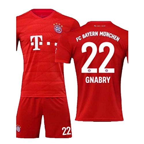 Gnabry 22# Fußball-Jersey-Jugend-Fußball-Shirt Männer T-Shirt Training Wear Athlet Jersey Familie und Freunde mit gutem Komfort XS