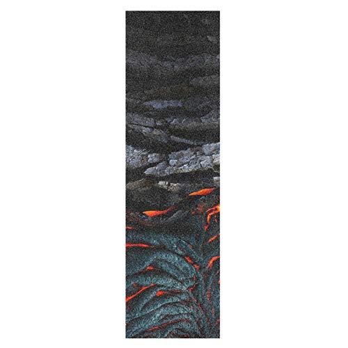 Kunst Vulkanisches Flammenholz Skateboard Griffband Sandpapier Griptape Rutschfestes Blasenfrei Blatt 1 Stück Longboard Aufkleber Scooter 22,9 x 83,8 cm