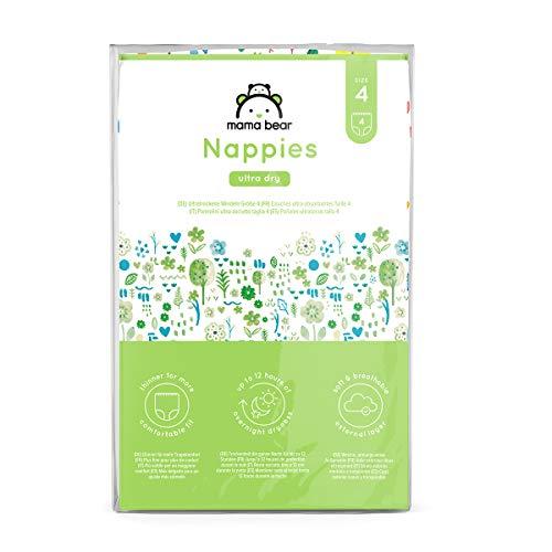 Amazon-Marke: Mama Bear - 4 Ultra-Dry Windeln - Größe 4 (8-14 kg) - Probepackung