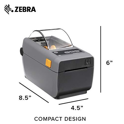 Zebra ZD410 Direct Thermal Desktop Printer Print Width of 2 in USB Connectivity ZD41022-D01000EZ