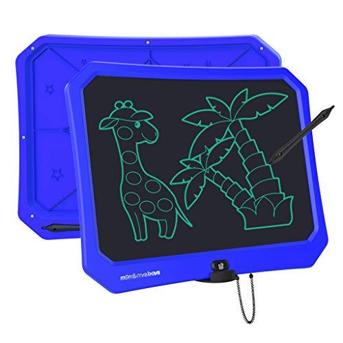 JRD&BS WINL Tablero de Dibujo Recargable de 17 Pulgadas con USB, Ewriter Borrable Reutilizable PortÁTil, el Mejor Regalo de Cumpleaños para Niños de 4 a 10 Años Estudiantes y Adultos(Azul)