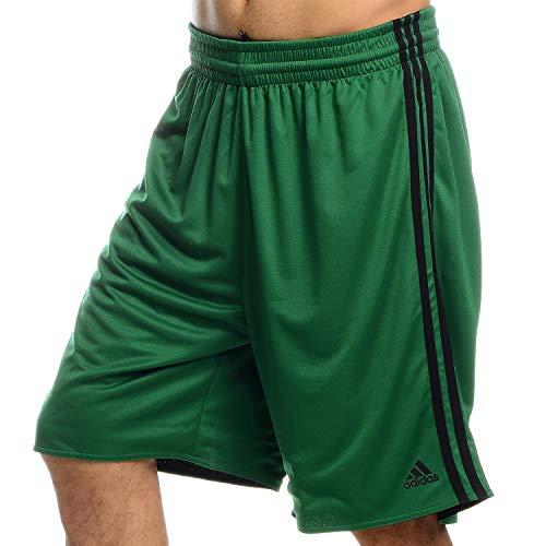 adidas Team Reversible - Pantalones Cortos de Baloncesto para Hombre, Color Verde, Talla S