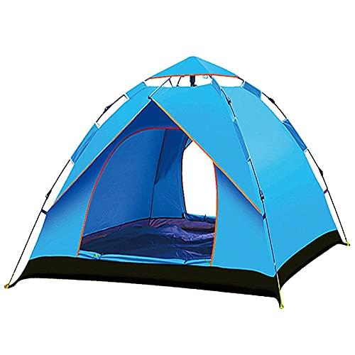 Pteng Tienda de campaña Familiar para Acampar al Aire Libre, Duradera, Resistente al Agua, fácil instalación, Tienda emergente, portátil, automática