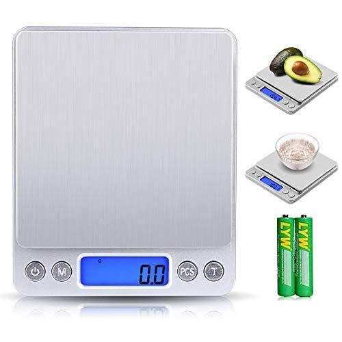 Báscula Digital para Cocina de Acero Inoxidable, Báscula Balanzas de Alta Precisión Balanza de Alimento Multifuncional, Peso de Cocina con LCD (estilo 2)