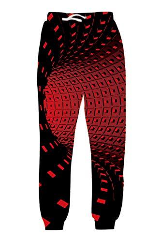 uideazone Unisex 3D Printed Graphric Sport Jogging-Hosen-beiläufige Jogginghose Fashion Party Festival Hosen, Flamingo, M
