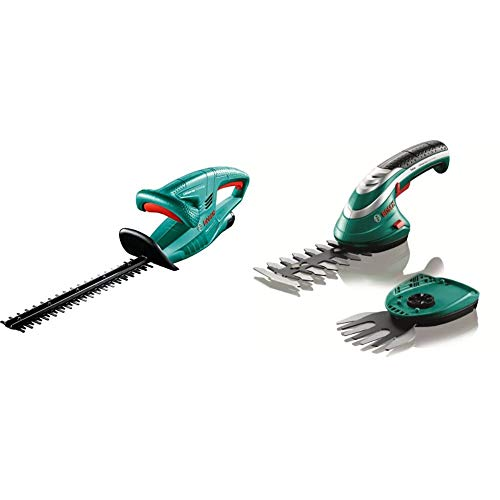 Bosch EasyHedgeCut 12-35 Cordless Hedge Cutter with 12 V Lithium-Ion Battery, 350 mm Blade Length,...