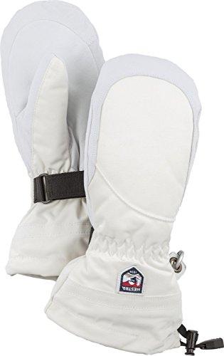 Hestra Henrik Ski-Handschuh Leder Pro Model kurz, Damen, 30611, elfenbeinfarben/gebrochenes Weiß, 8