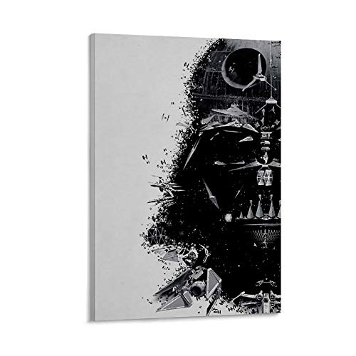 JHGB Impression sur toile « Best Darth Vader Drawing Drawing » pour chambre de famille - 30 x 45 cm