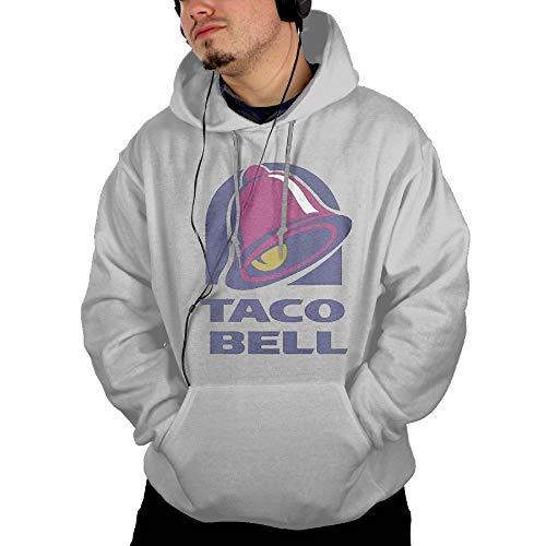 Men's Hooded Pocket Sweater Sun Illuminati Triangle Art Majestic Bell with Taco Fashion Classic Style Ash L