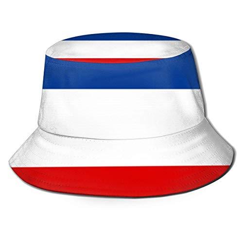 Lawenp Sombrero de Cubo con Bandera de Yugoslavia, Unisex, Plegable, para Viaje de Verano, Cubo Boonie, Sombrero para el Sol, Gorra de Pescador al Aire Libre