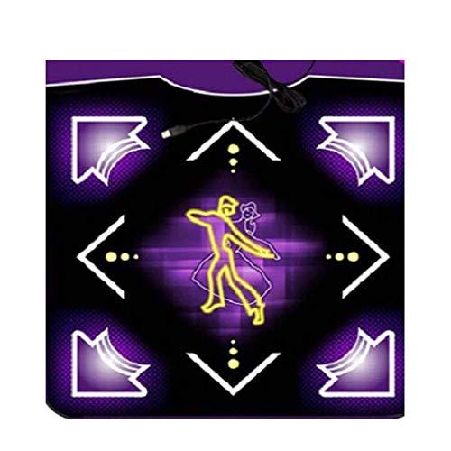 ZY Bailando Manta de televisión dedicado Baile Individual con conexión de Cable de la máquina Inicio Peso Pérdida somatosensoriales Ejecución de Manta Juego de Fitness Danza Mats (Color: C) LOLDF1