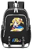 YOYOSHome Anime Sailor Moon Cosplay Luna Laptop Bag Backpack School Bag with USB Charging Port