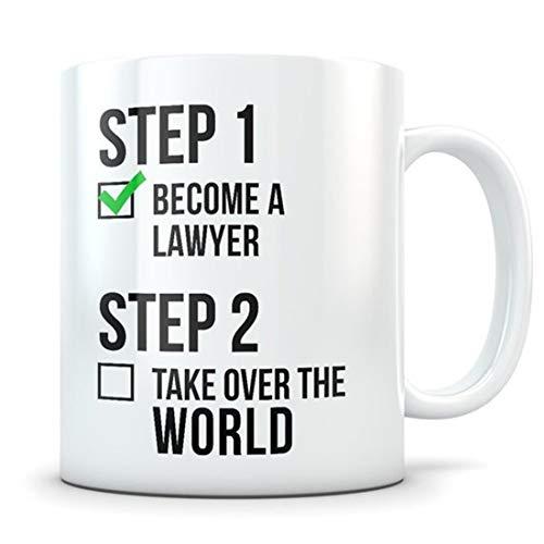 Regalo de graduación de la escuela de derecho. Taza de abogado, regalo de abogado, estudiante de derecho, graduación de derecho, graduados en derecho, regalo LSAT, futuro abogado