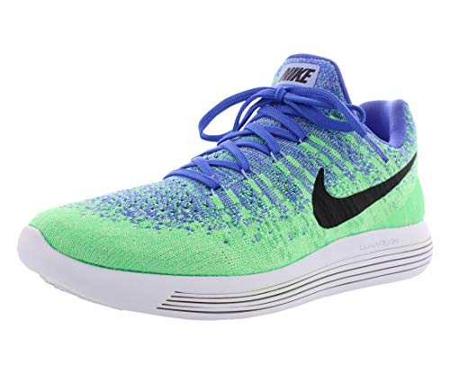 Nike Women's WMNS Lunarepic Low Flyknit 2, Medium Blue/Black-Aluminum, 4.5 UK