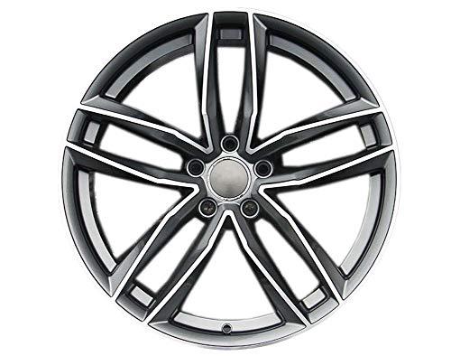 Yx-outdoor Cerchio in Lega a 5 Razze, Offset 45, tornio per Audi A4l A6l Volkswagen CC Golf Magotan Tiguan (1PC),Gray,17X7.5J