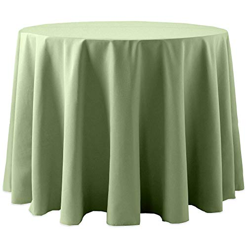 Ultimate Textile -2 Pack- Cotton-Feel 96-Inch Round Tablecloth - for Wedding and Banquet, Hotel or Home Fine Dining use, Sage Green
