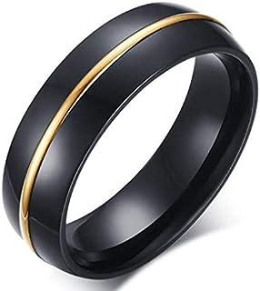 خاتم من التنجستين الأسود بخط في النص