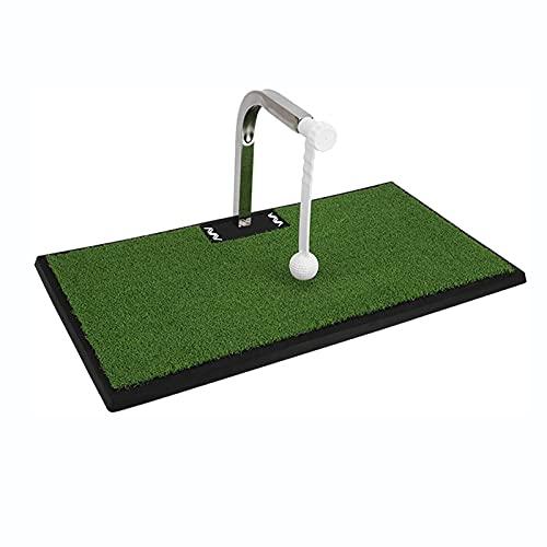 NXX Ayuda para El Entrenamiento del Swing De Golf Colchoneta para Golpear Golf Club Champ Columpio Interior/Exterior Impacto Real Altura Ajustable ConstruccióN Robusta Entrenador De Swing PortáTil