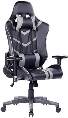 HEALGEN Gaming Chair Racing Style High-Back PU Leather Office Chair PC Desk Chair Executive and Ergonomic Swivel Chair (8193 GR) chair gaming