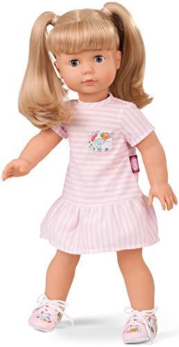 Götz 1690398 Precious Day Girls Jessica Summertime – 46 cm große Stehpuppe, Blonde Haare, Blaue Schlafaugen - 5-teiliges Set