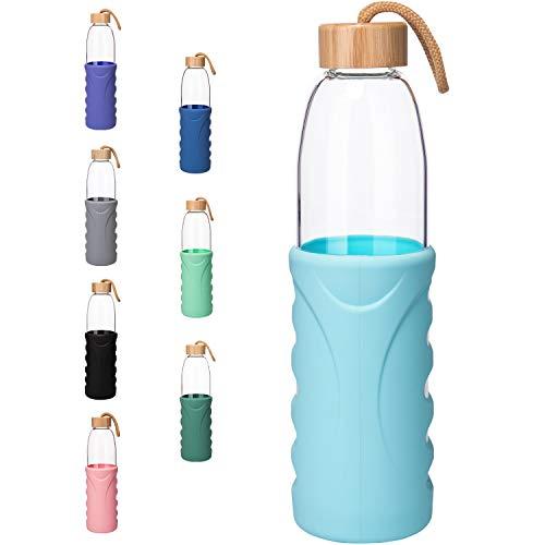 Botellas De Agua Cristal Con Silicona Marca Life4u