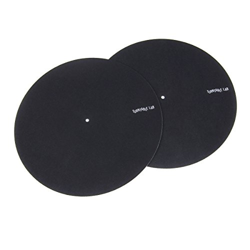 Turntable Lab: Pro Thin Slipmats (Technics Style) - Black (Pair)