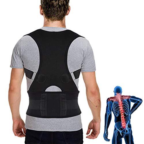 ZSZBACE Haltungskorrektur, Rückenstützgürtel gegen haltungsbedingte Nacken, Rücken und Schulterschmerzen, Schulter Geradehalter für Damen und Herren (XL)