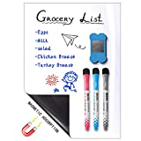 """12 x 8 inches Magnetic Dry Erase Whiteboard Sheet ,Home Kitchen Fridge Shopping List and Office Notice Board (12"""" X 8"""")"""
