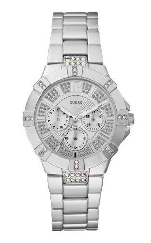 Guess Damen-Armbanduhr VISTA Analog Quarz Aluminium W11624L1