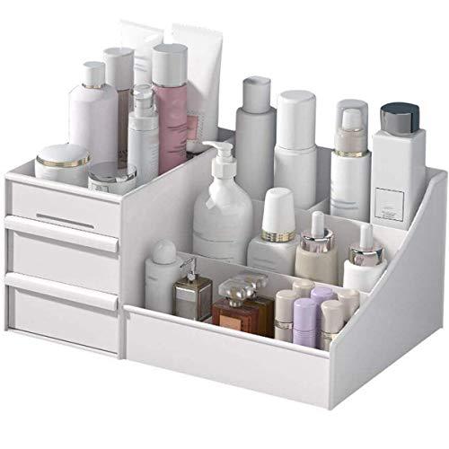 Kosmetik-Organisator-Speicher Kosmetik Make-up Schmuck Schubladen Aufbewahrungsbox Make Up Desktop Storage Rack-Frisierkommode Multi Layer-Vitrine,Weiß