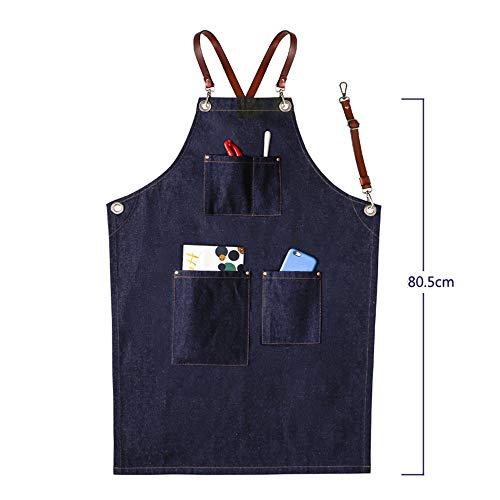 SEGIBUY Mannen Chef Works PU riem kruisriem Multi-Tool tas voor werkschort keuken, tuin, keramiek, handwerk werkplaats, garage