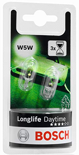 Bosch 1987301052 Autolampe W5W LONGLIFE - Glassockellampe/Miniwattlampe