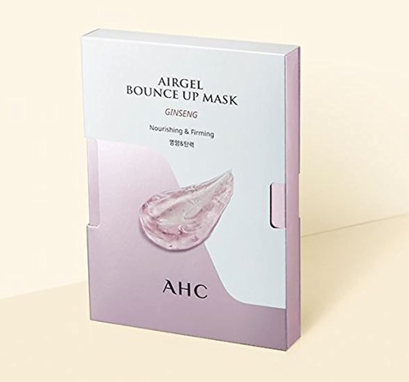 水陸両用接触恐ろしい[A.H.C] Airgel Bounce Up Mask GINSENG (Nourishing&Firming)30g*5sheet/ジンセンエアゲルマスク30g*5枚 [並行輸入品]