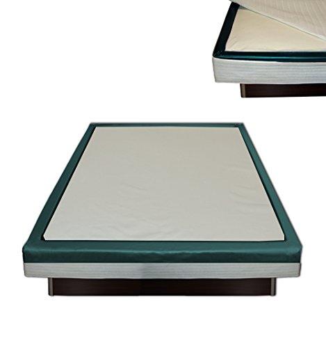 Orthopädischer Visco Softside Wasserbett Viscotopper 2 cm mit Piqué-Bezug (200 x 200 cm)