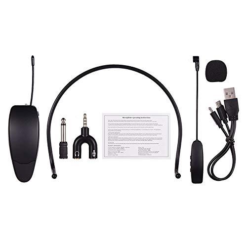 BKAUK 2.4 G Headgear - Auriculares de micrófono profesional para altavoces, amplificador de voz